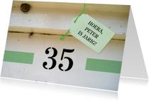 Verjaardagskaart - huisnummer