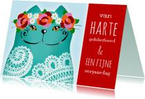 Verjaardagskaart Katje lace