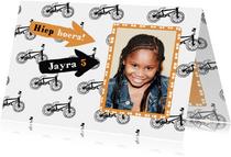 Verjaardagskaarten - Verjaardagskaart kleine fietsjes met foto