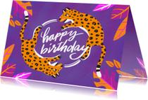 Verjaardagskaart luipaarden