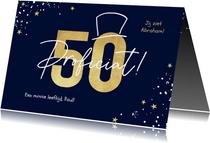 Verjaardagskaart man 50 jaar abraham goud