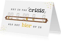Verjaardagskaart man bier corona crisis humor