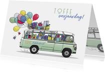 Verjaardagskaart Mercedesbus retro