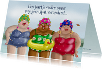Verjaardagskaart met badmuts