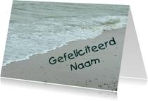 Verjaardagskaart naam  het strand