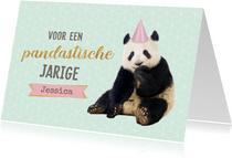 Verjaardagskaart panda