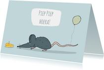 Verjaardagskaart Piep piep Hoera!