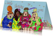 Verjaardagskaart proosten
