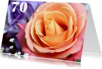 Verjaardagskaart roos 70 jaar 2