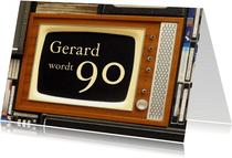 Verjaardagskaart televisie