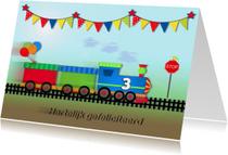 Verjaardagskaart trein