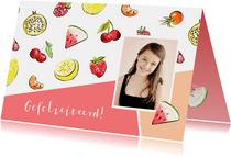 Verjaardagskaart tropisch fruit