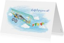 Verjaardagskaart vliegtuig