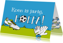 Verjaardagskaart voetbalschoen