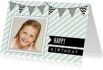Verjaardagskaartje Vlaggetje