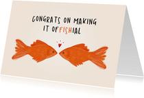 Verlobungs-Glückwunschkarte Fische