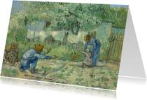 Vincent van Gogh. Ouders met kind in een tuin