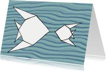 vissen blauw