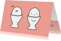 Vriendschap kaart illustraties eitjes