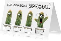 Vriendschapskaart met cactussen for someone special!