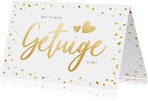 Vrolijke confetti kaart - wil je mijn getuige zijn?