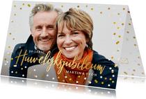 Jubileumkaarten - Vrolijke uitnodiging huwelijksjubileum met eigen foto