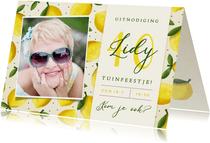 Vrolijke zomerse uitnodiging verjaardagsfeest of tuinfeest