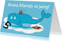 Walvis verjaardagskaart