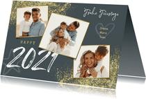 Weihnachts-Neujahrskarte mit Fotocollage