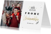 Weihnachts-Umzugskarte mit Foto