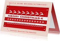 Weihnachtskarte Bastle deine Weihnachtsmaske
