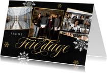 Weihnachtskarte Bilderreihe geschäftlich