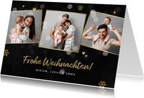 Weihnachtskarte eigene Fotos Collage