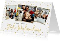 Weihnachtskarte eigene Fotos 'Frohe Weihnachten'