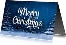 Weihnachtskarte Firma Wintermotiv klassisch