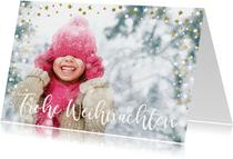 Weihnachtskarte Foto groß mit Konfettirahmen