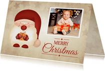 Weihnachtskarte Foto & kleiner Weihnachtsmann