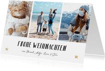 Weihnachtskarte Fotocollage Frohe Weihnachten