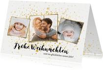 Weihnachtskarte Fotocollage & Goldtupfen