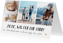 Weihnachtskarte Fotocollage 'Was für ein Jahr'