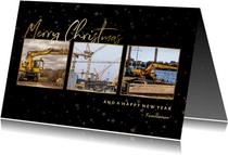 Weihnachtskarte geschäftlich Fotocollage Merry Christmas