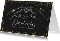 Weihnachtskarte geschäftlich Händeherz