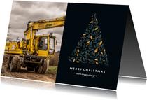 Weihnachtskarte geschäftlich mit Foto und Weihnachtsbaum