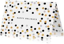 "Weihnachtskarte ""Happy Holidays"" mit Konfetti"