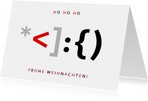 Weihnachtskarte IT Weihnachtsmann als Programmiersprache