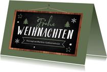 Weihnachtskarte Kollegium Schule