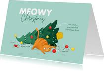 Weihnachtskarte Meowy Christmas