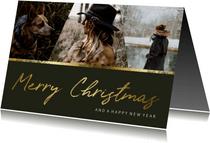 Weihnachtskarte 'Merry Christmas' mit einer Fotocollage