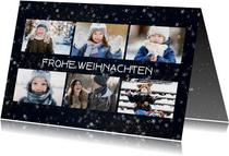 Weihnachtskarte mit 6 Fotos und Sternchen