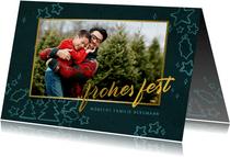 Weihnachtskarte mit Foto und Illustrationen